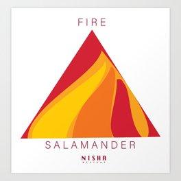 SALAMANDER- FIRE Art Print