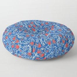 swedish christmas blue Floor Pillow