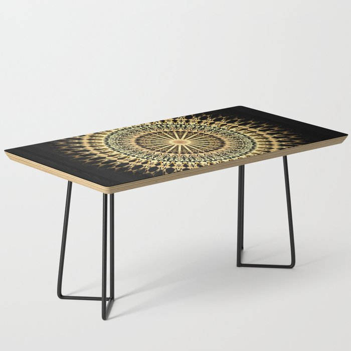 Black Gold Mandala Coffee Table By
