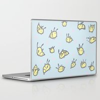 bees Laptop & iPad Skins featuring BEES!!  by SOMNIVAGRIOUS