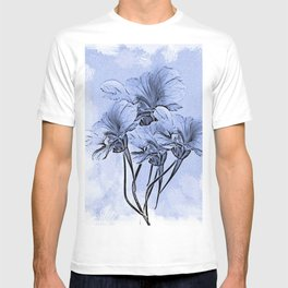 Painterly Blue Floral T-shirt