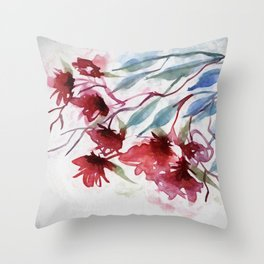 Weeping Red Throw Pillow