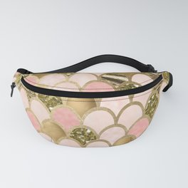 Rose gold blush mermaid scales Fanny Pack