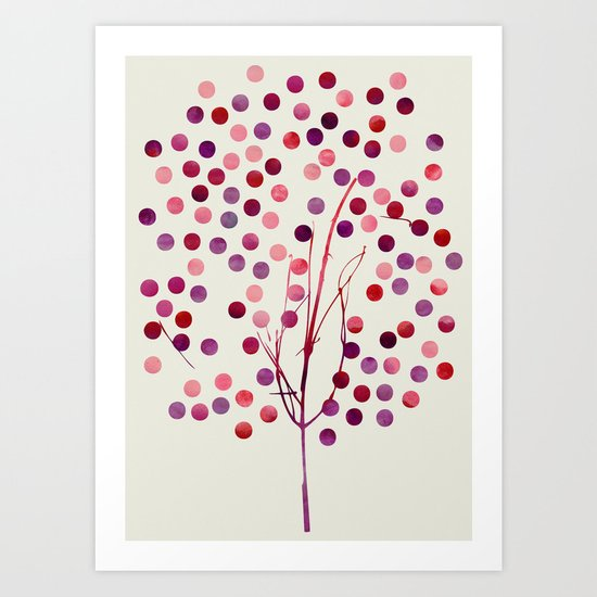 Tree of Life_Berry by Jacqueline & Garima Art Print