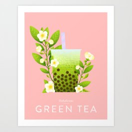 Bobalicious Green Tea Art Print
