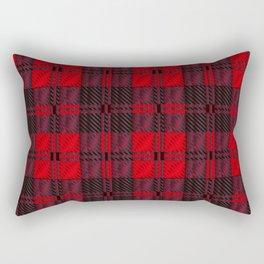 Dark Red Tartan Rectangular Pillow