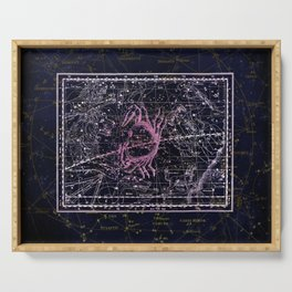 Cancer | Constellation map | Zodiac | Sign sky | Stars | Universe Serving Tray