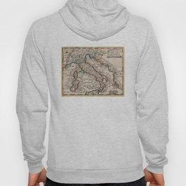 Vintage Map of Italy (1659) Hoody