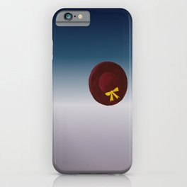 The Hat sitting all alone in space. digital iPhone Case