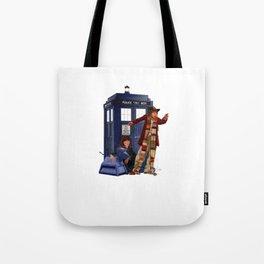 4th Doctor, Sarah Jane, K-9 and the TARDIS Tote Bag