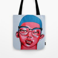 austin Tote Bags featuring AUSTIN by Zelda Bomba