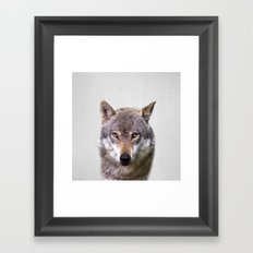Wolf - Colorful Framed Art Print