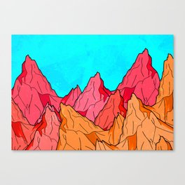 The Red and Orange Mounts Canvas Print
