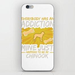 Chinook Funny Dog Addiction iPhone Skin
