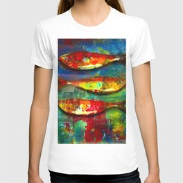 Colourful Expressionist Sardines T-shirt