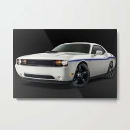 MOPAR Challenger in white with only 1 of 100 made Metal Print