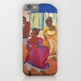 African American Masterpiece 'Candombe - A Homecoming' by Pedro Figari Solari iPhone Case