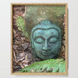 Earth Buddha by Mandy Ramsey, Haines, Alaska Serving Tray