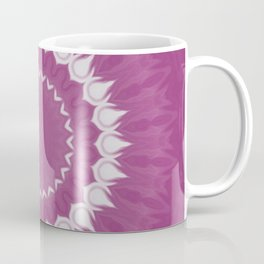 Amethyst & White Gemstone Liquid White Smoke Kaleidoscope 2 Digital Painting Coffee Mug