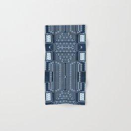 Blue Geek Motherboard Circuit Pattern Hand & Bath Towel