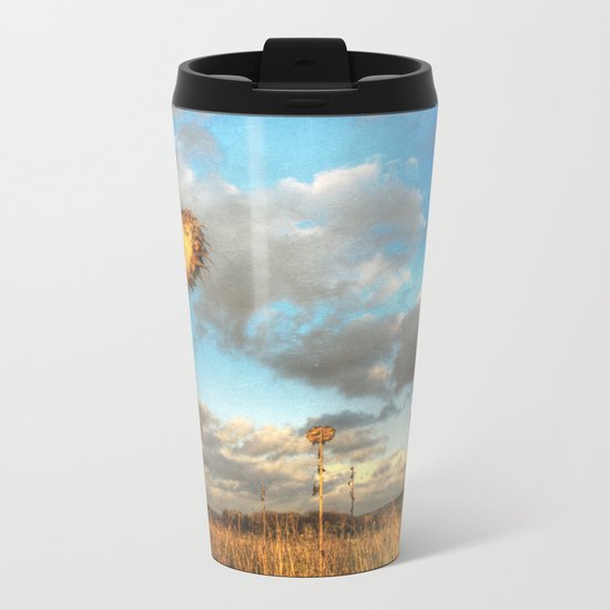 Field of lost Souls - Withered Sunflowers Metal Travel Mug