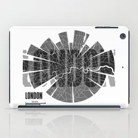 london map iPad Cases featuring London Map by Shirt Urbanization
