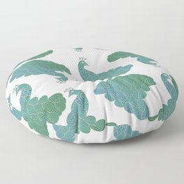 Green and Blue Peacock  Floor Pillow