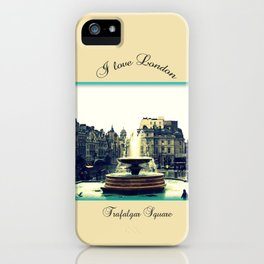 I Love London, Trafalgar Square iPhone Case