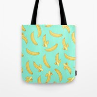 banana Tote Bags featuring BANANA by Céline Dscps