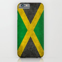 Jamaican flag, Vintage retro style iPhone Case