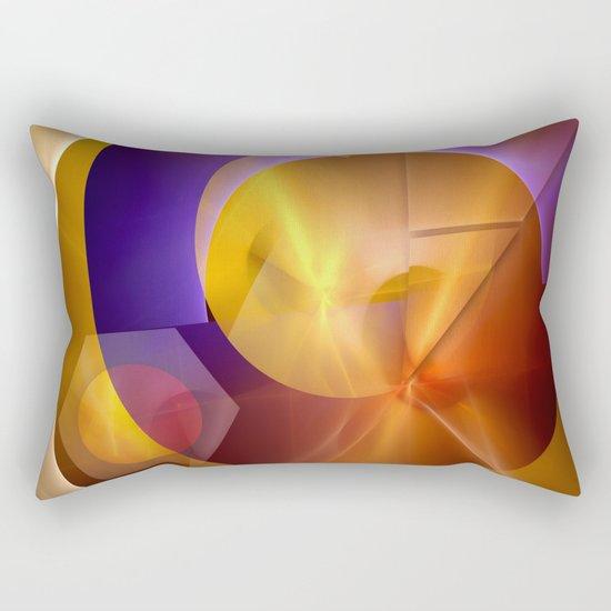 Modern abstract with a golden glow Rectangular Pillow