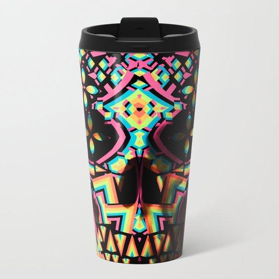 Fancy Skull Metal Travel Mug