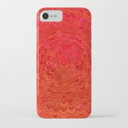 Fire Flower Mandala iPhone Case