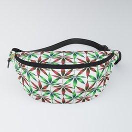 WEED LOVE, BURGUNDY RED GREEN Cannabis Smoke Marijuana Fanny Pack