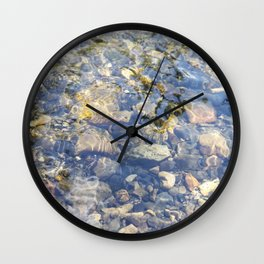 Underwater Mountain River Rocks Wall Clock