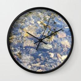 Underwater Mountain River Rocks Wall Clock