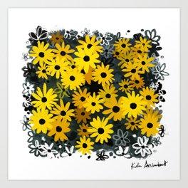 Black Eyed Susans Art Print