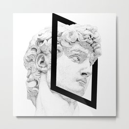 Profile of David statue by Miguel Angel (frame) Metal Print