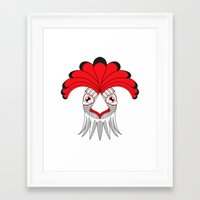 cock Framed Art Prints featuring Cock by HandeAylan