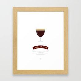 Irish Coffee Sunrise Cocktail Recipe Art Print (White) Framed Art Print