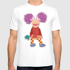 red fraggle SMALL White Mens Fitted Tee