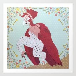 The Red Harpy Art Print
