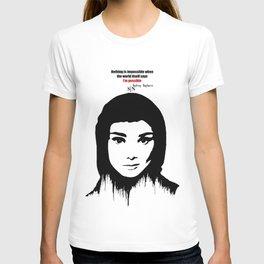 Audrey Hepburn art design ( black and white)  T-shirt