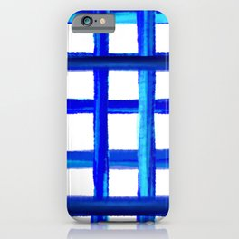 Gingham blue organic - Vichy Karo Blau  iPhone Case