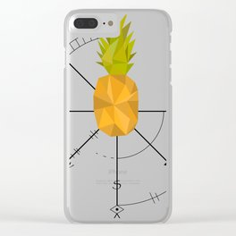 Pineapple Compass Clear iPhone Case