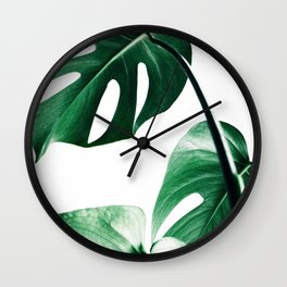 Monstera print, Plant, Scandinavian, Wall Art, Minimal, Modern Wall Clock