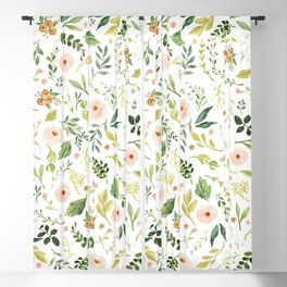 Botanical Spring Flowers Blackout Curtain