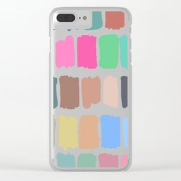 Abstract colorful palette watercolor brushstrokes Clear iPhone Case
