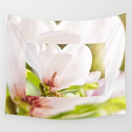 Magnolia sepal flowering macro Wall Tapestry