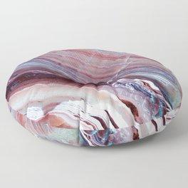 Purple & Pink Striped Agate Geode Quartz Slab Floor Pillow